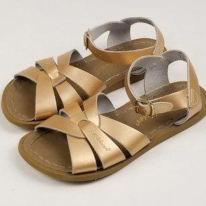 Salt Water Rose Gold Girls Sandals Size 1